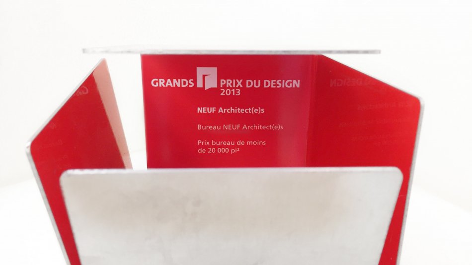 NEUF wins Grands Prix du Design 2013 Award
